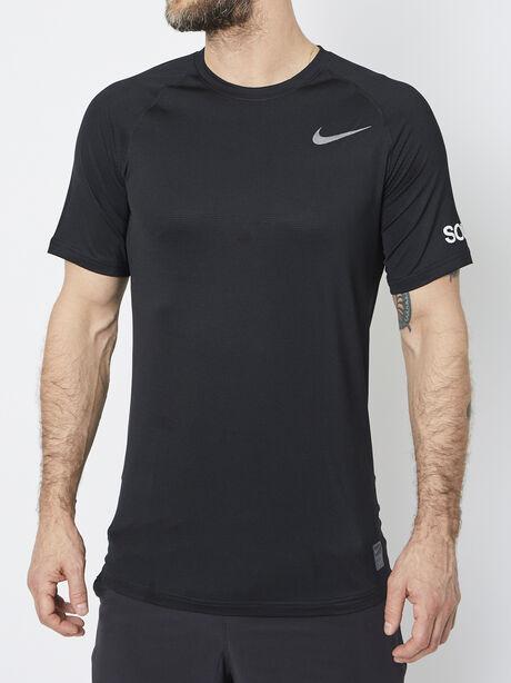 Nike Pro Shortsleeve Shirt, Black/Black/Anthracite/Dark Gr, large image number 0