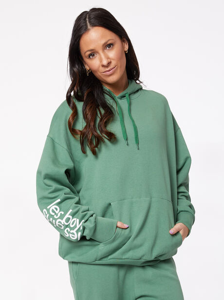 Oversized Hoodie Myrtle Green, Green, large image number 1