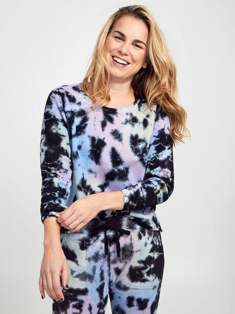Carolina Tie-Dye Crewneck Sweatshirt, Tie Dye, large image number 0