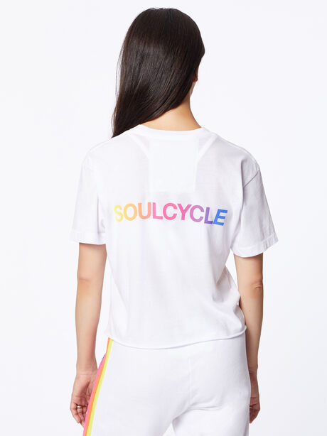 Exclusive Boyfriend Tee White/Rainbow, White, large image number 3