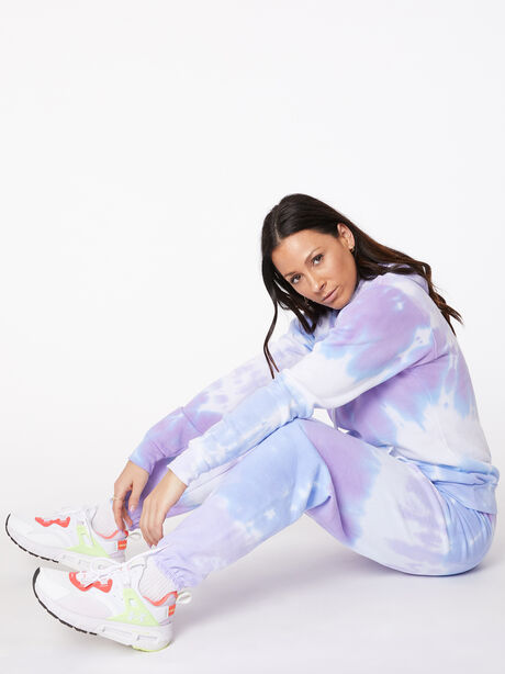 Tie-Dye Stevie Sweatpant Ice/Lavender, BLUE/PURPLE, large image number 3