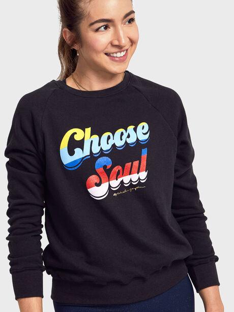 Choose Soul Old School Pullover, Black, large image number 1