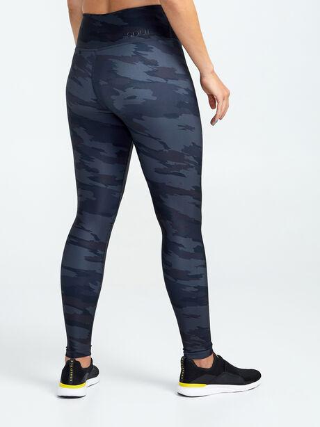 Double Knit Grey Camo Leggings, Light Grey Camo, large image number 1