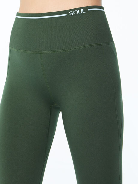 Ribbed Seamless Bra and Legging Kit Green, Green, large image number 5