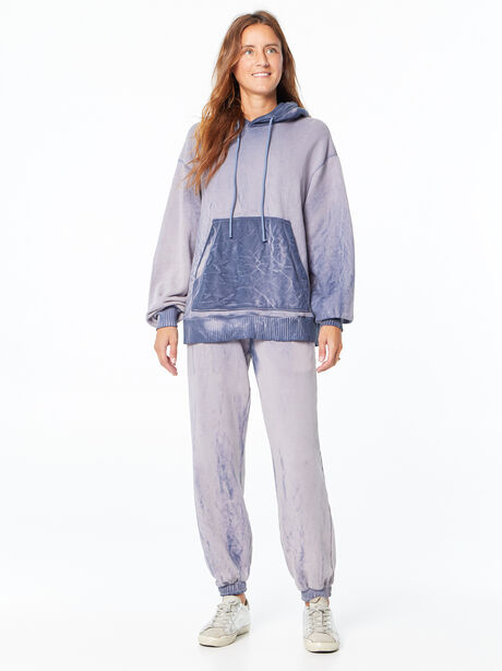 Oversized Brooklyn Hoodie Navy Mix, Navy, large image number 0