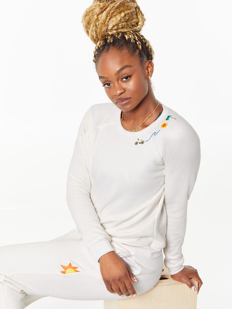 Classic Crew Pullover Natural, Natural, large image number 0
