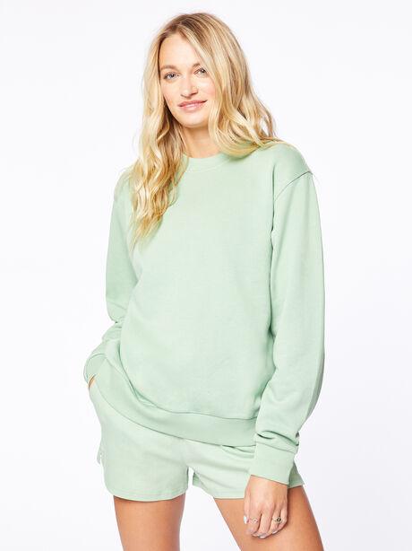 Crew Neck Sweatshirt Mistletoe, Green, large image number 2