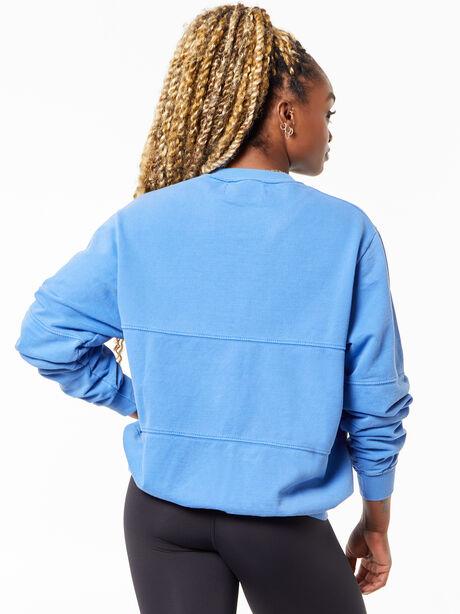 Split Seam Derek Sweatshirt Crest Blue, Blue, large image number 2