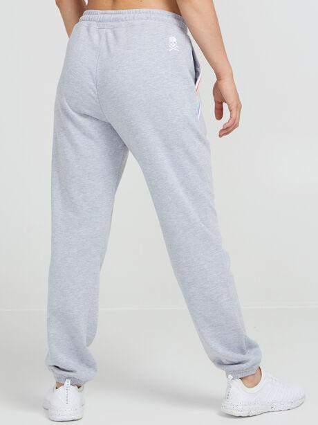 Rainbow Inset Sweatpants, Heather Grey, large image number 3