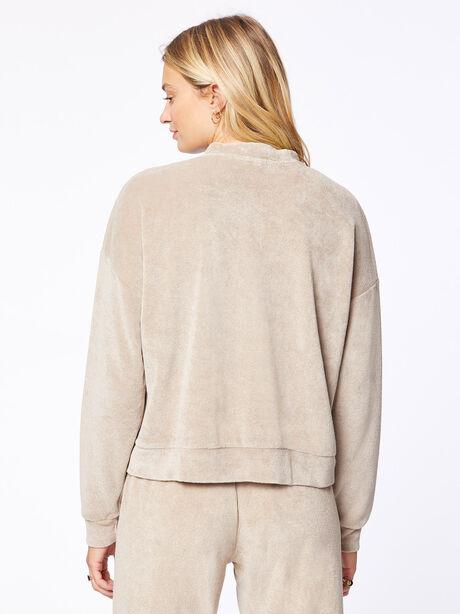 Terry Henley Sweatshirt Stone, Stone, large image number 3