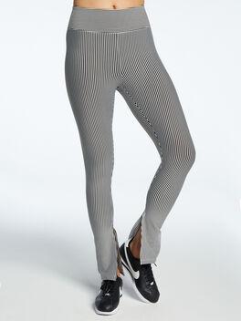 Seersucker 9 To 5 Slit Legging Black/White, Black/White, large
