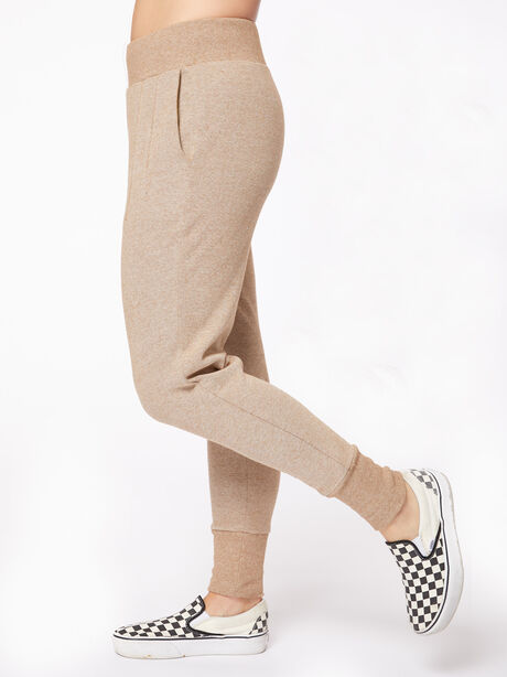 Amberley Ribbed Pique Jogger Biscuit, Tan, large image number 3