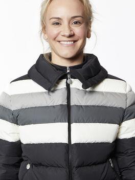 Queenie Jacket, Black/Grey/White, large