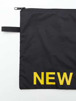 New York Reusable Sweat Bag, Black, large
