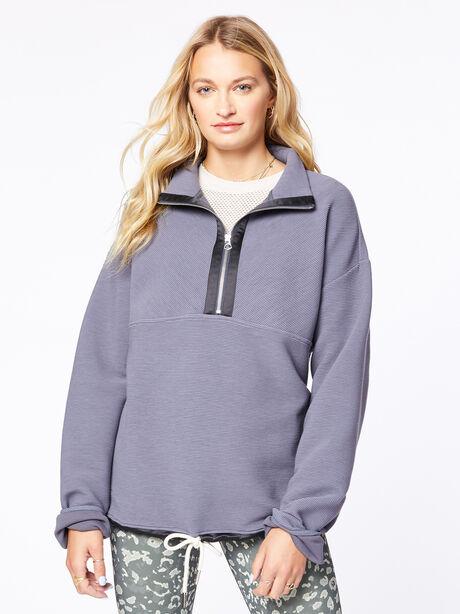 Harding Half-Zip Pullover Deepest Slate, Dark Slate, large image number 3
