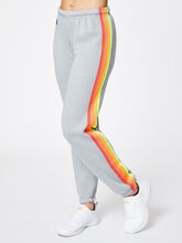 4 Stripe Sweatpant Light Grey, Light Grey, large