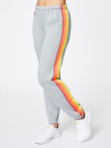 4 Stripe Sweatpant Light Grey, Light Grey, large image number 0