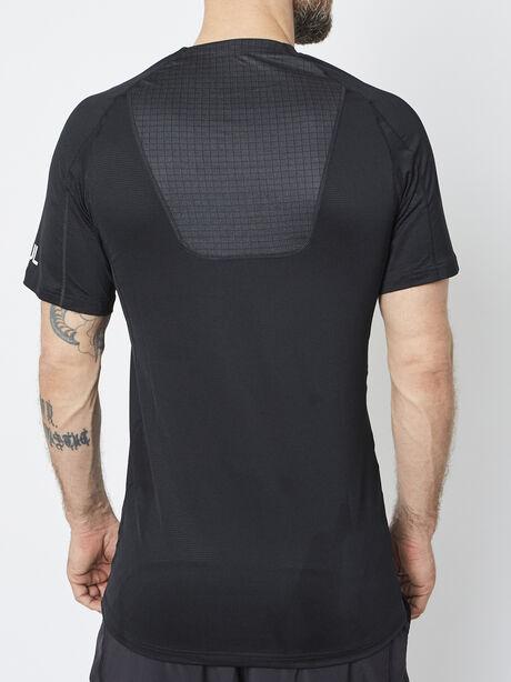 Nike Pro Shortsleeve Shirt, Black/Black/Anthracite/Dark Gr, large image number 2