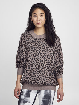 Hermosa Sweater, Leopard, large