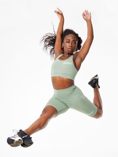 Tulia Mocha Biker Shorts Green, Green, large image number 1