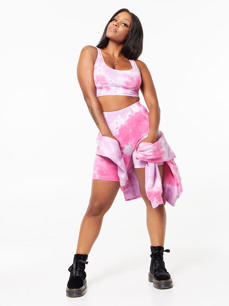 Tie-Dye Summer In The City Bra Tank Pink/Purple, Purple, large image number 4