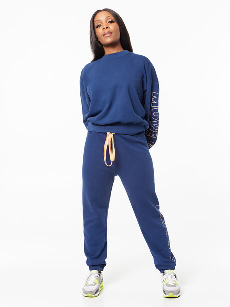 The Bender Ankle Sweatpant Insignia Blue, Blue, large image number 4