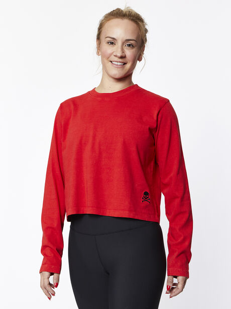 After Class Long Sleeve Red, Red/Red, large image number 0
