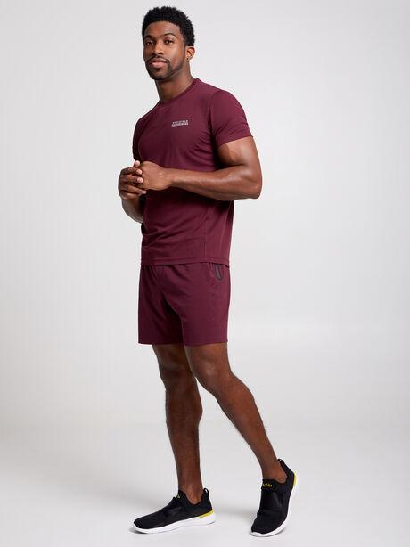 Distance Short-Sleeve Shirt, Maroon, large image number 2
