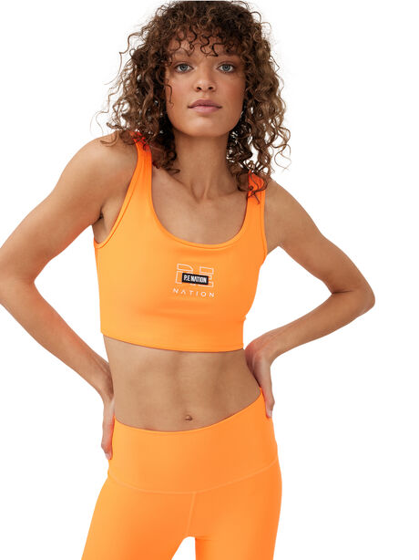 Grand Stand Sports Bra Shocking Orange, Orange, large image number 2