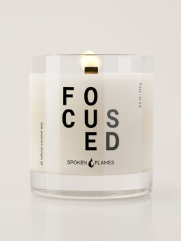 Focused Candle, Clear, large