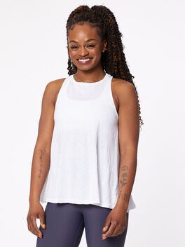 Trapeze Tank, White, large