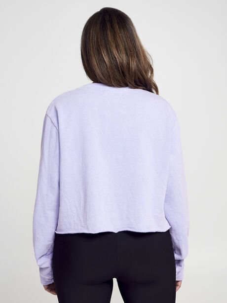 Casey Crop Sweatshirt, Purple, large image number 2