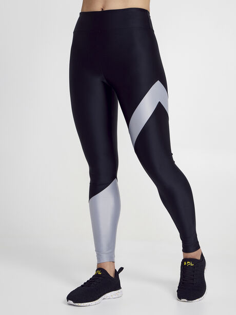 Black/Silver Appeal Energy High Rise Legging, Black/Silver, large image number 1