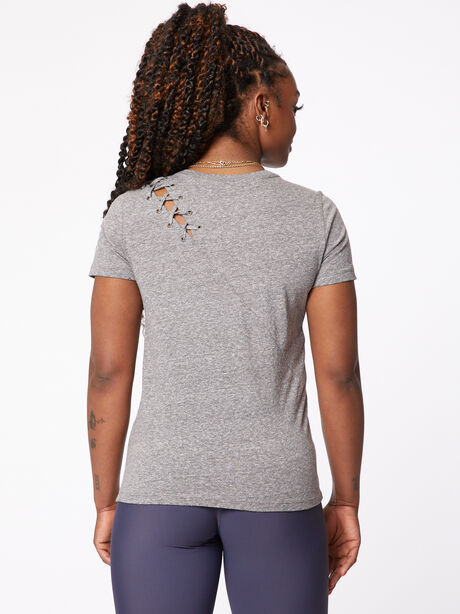 Gaia Lace Tee, Heather Grey, large image number 1