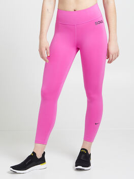 One Crop Leggings, Active Fuchsia/Black, large