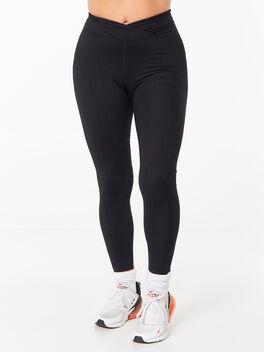 Ribbed Veronica Legging Black, Black, large