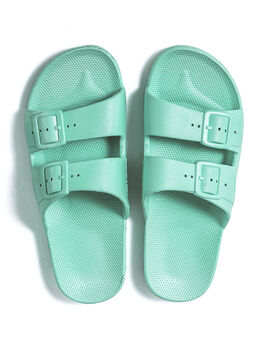 Moses Two Band Slides Miami, Turquoise, large