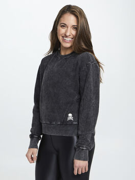 Mattie Crop Sweatshirt, Black, large