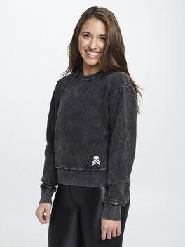 Mattie Crop Sweatshirt, Black, large
