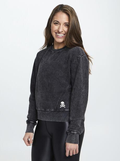 Mattie Crop Sweatshirt, Black, large image number 0
