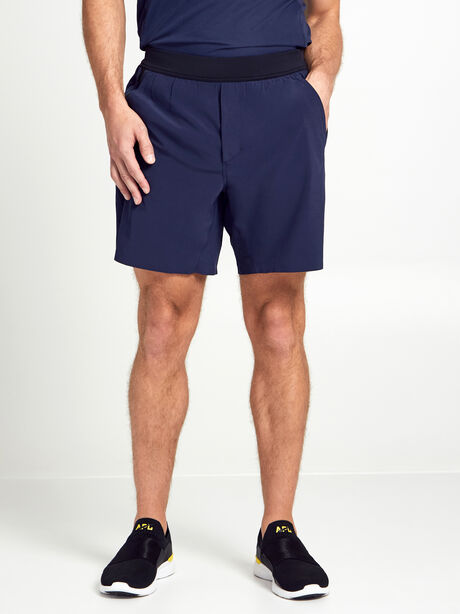 "Lined Interval Shorts 7"", Black/Navy, large image number 1"