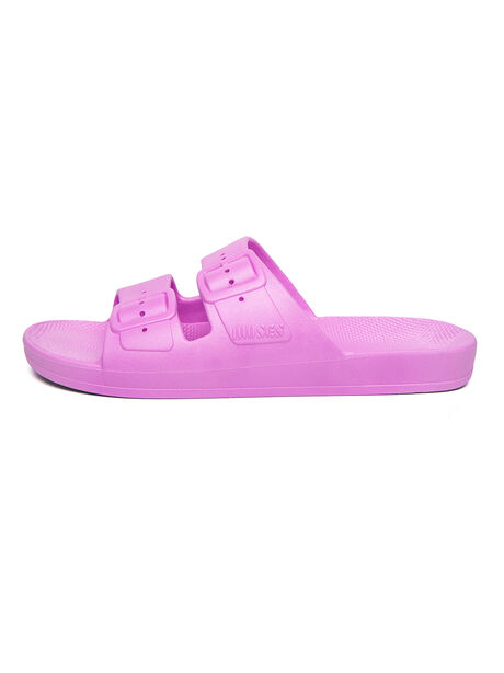 Moses Two Band Slides Ultra Neon Purple, Neon Pink, large image number 1