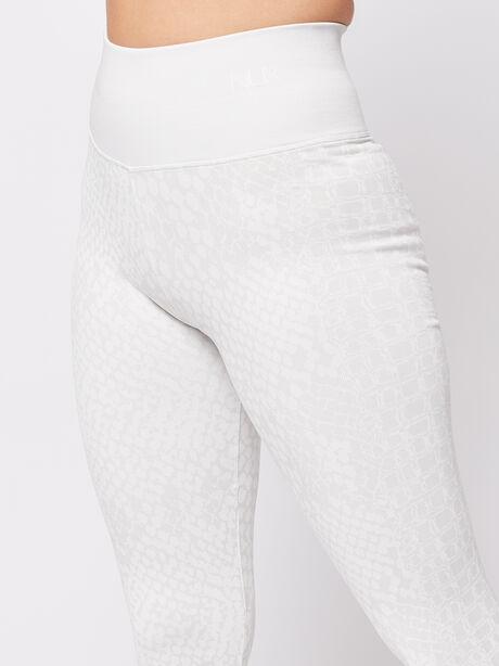White Animal Legging, White, large image number 1