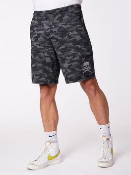 "Pace Breaker Lined Short 9"" Black Camo, Variegated Mesh Camo Black, large"