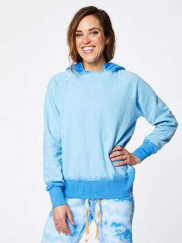 Boyfriend Dip-Dye Hoodie Blue, Blue, large
