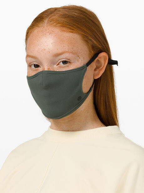 Ear Loop Face Mask Smoked Spruce, Green, large image number 0