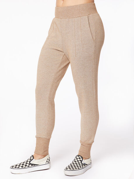 Amberley Ribbed Pique Jogger Biscuit, Tan, large image number 1