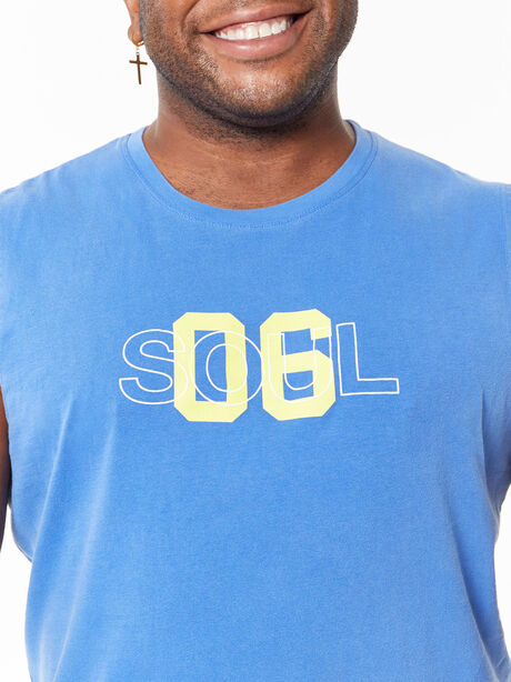 All Souls Muscle Tank Blue, Blue, large image number 1