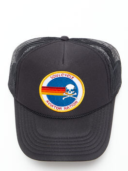 Exclusive Aviator Nation Trucker Hat Black, Black, large