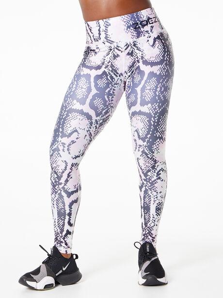 Safi Snake Print Leggings Black/White/Pink, Black/White, large image number 0